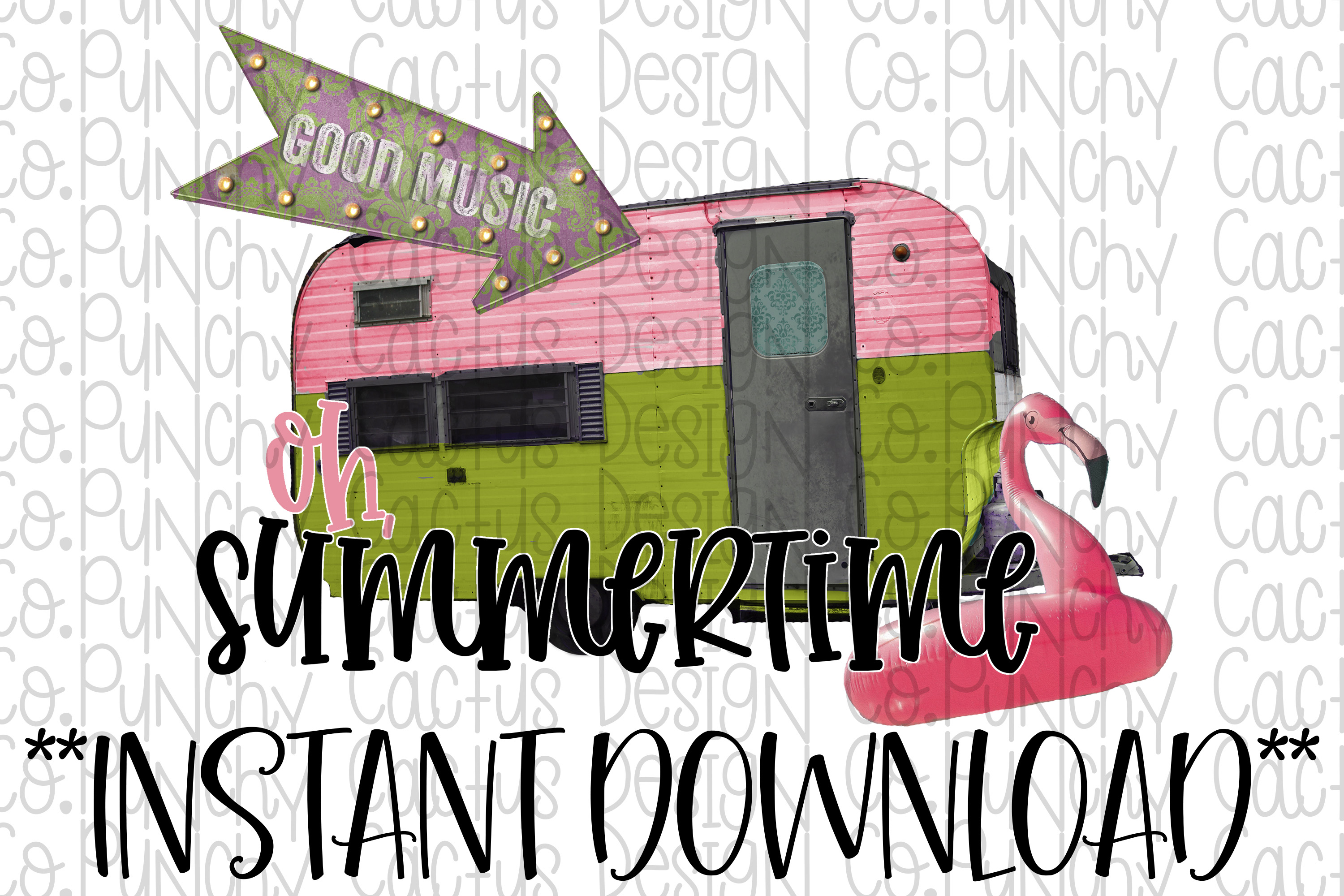 Oh Summertime Sublimation Download, Summer example image 1