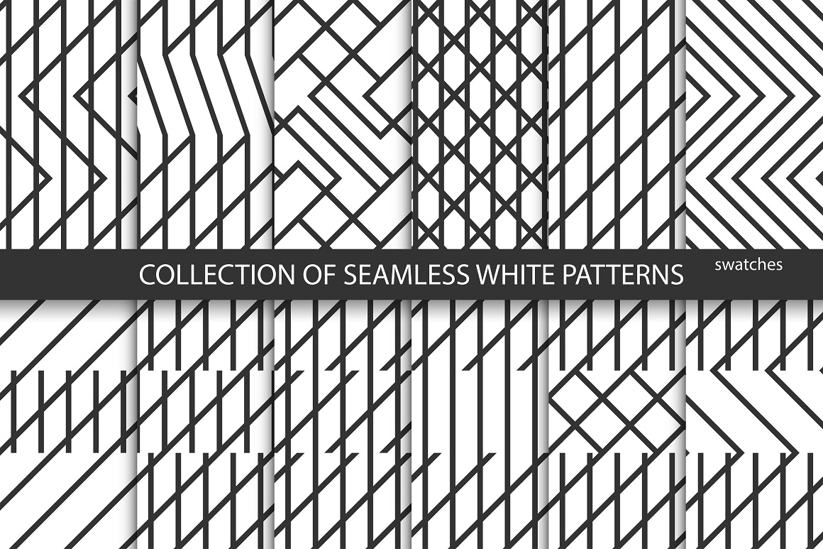 Geometric seamless creative patterns example image 1