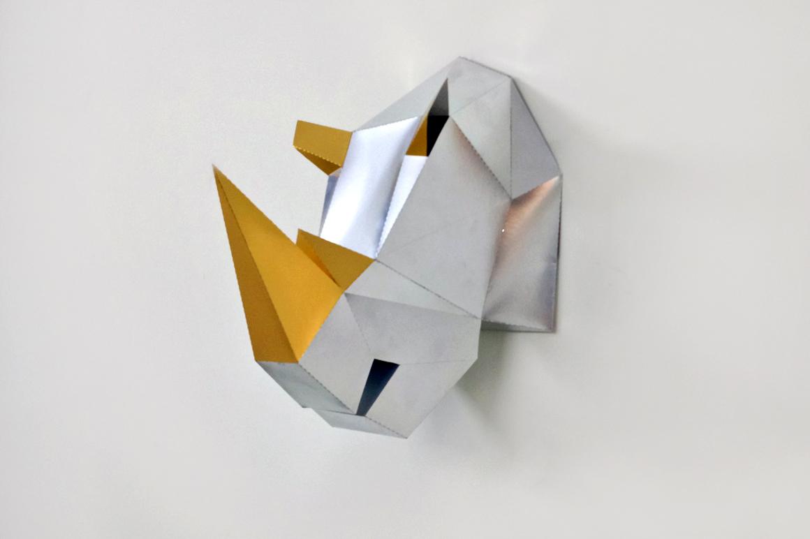 DIY Rhinoceros Head - 3d papercraft example image 1