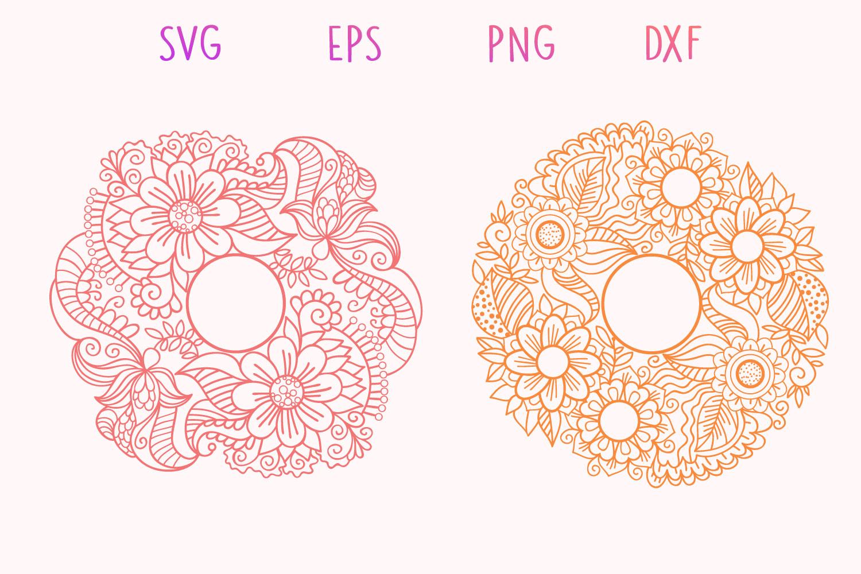 Zentangle Monogram - 5 SVG cut files example image 3