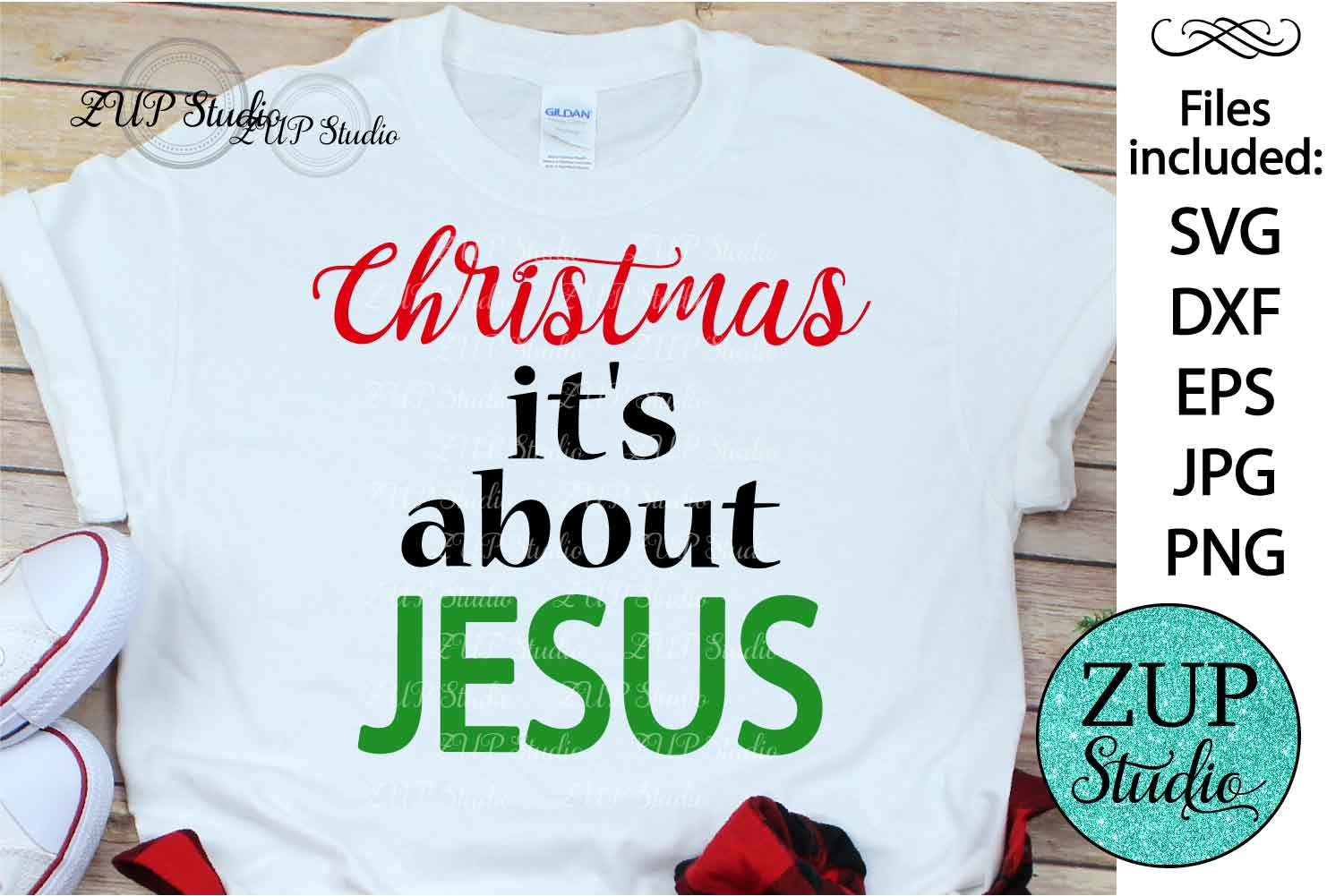 Christmas is about Jesus Digital Cutting files file 119 example image 1