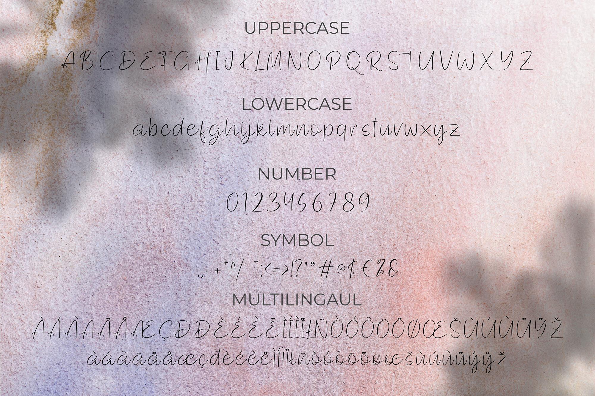 Blodeyn Handwritten Font example image 8