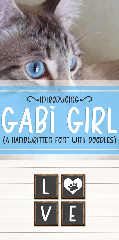 Gabi Girl - A Handwritten Font w/ Doodles by Digi Web Studio example image 12