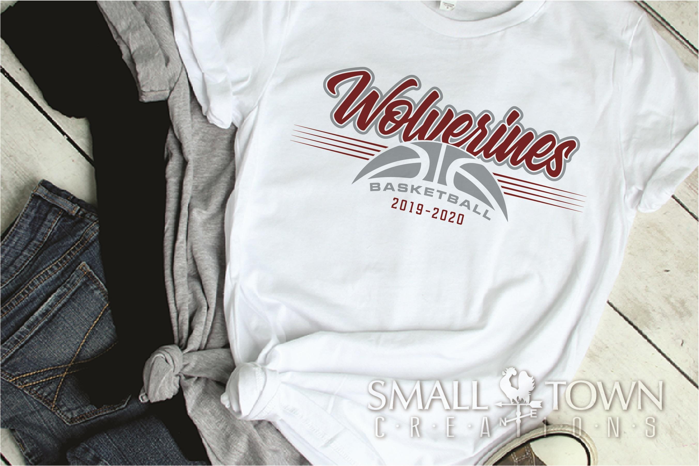 Wolverine, Basketball, Sport, Team, Logo, PRINT, CUT, DESIGN example image 2