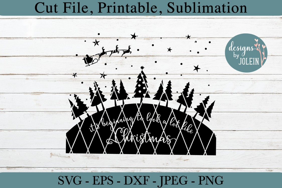 Look a lot like Christmas SVG, png, eps, DXF, sublimation example image 5