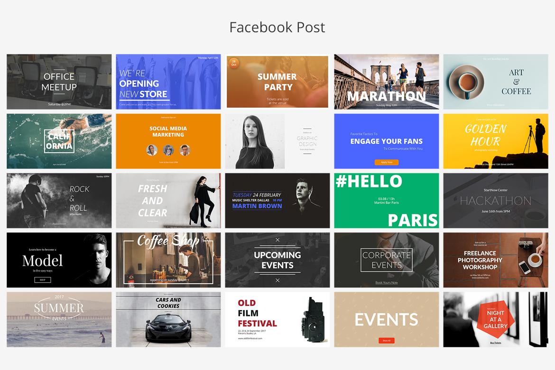 Events Social Media Banners 31092 Web Elements Design Bundles