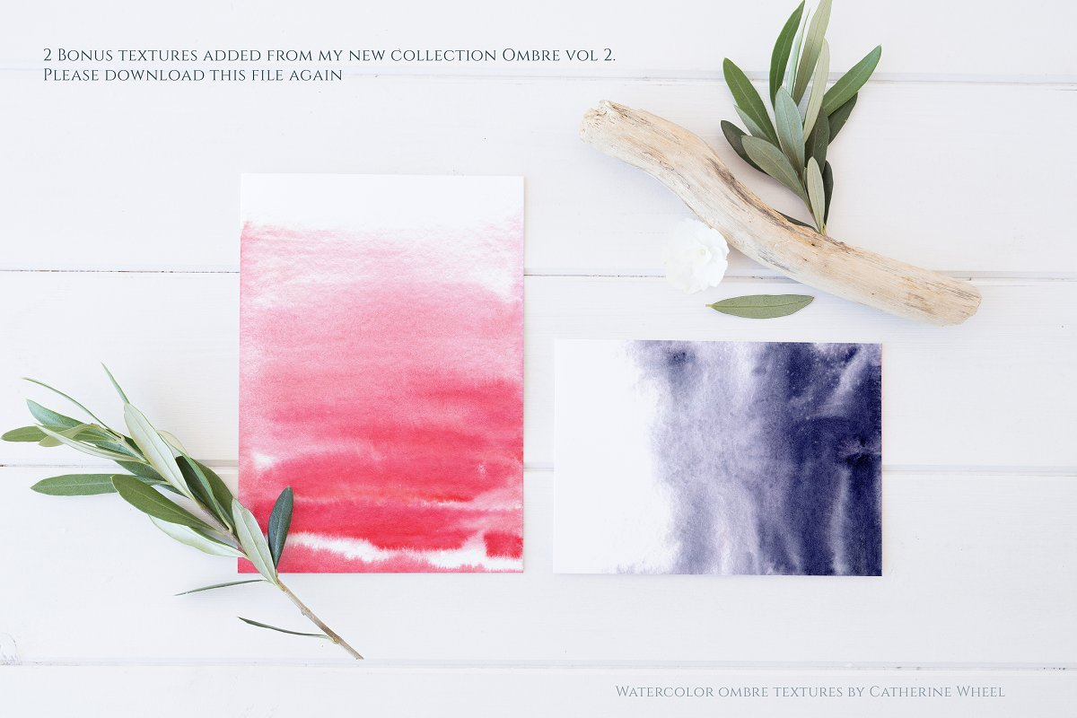 Ombre Watercolor Texture example image 11