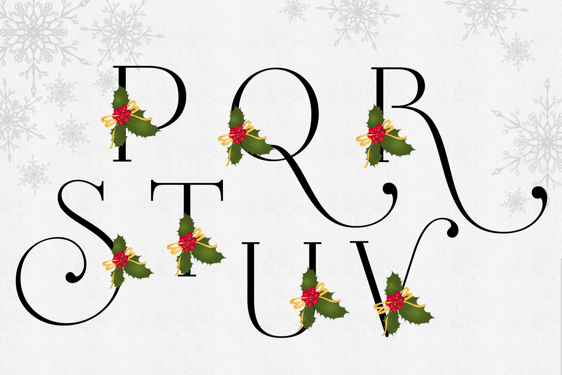 Holiday Alphabet Design Set example image 9