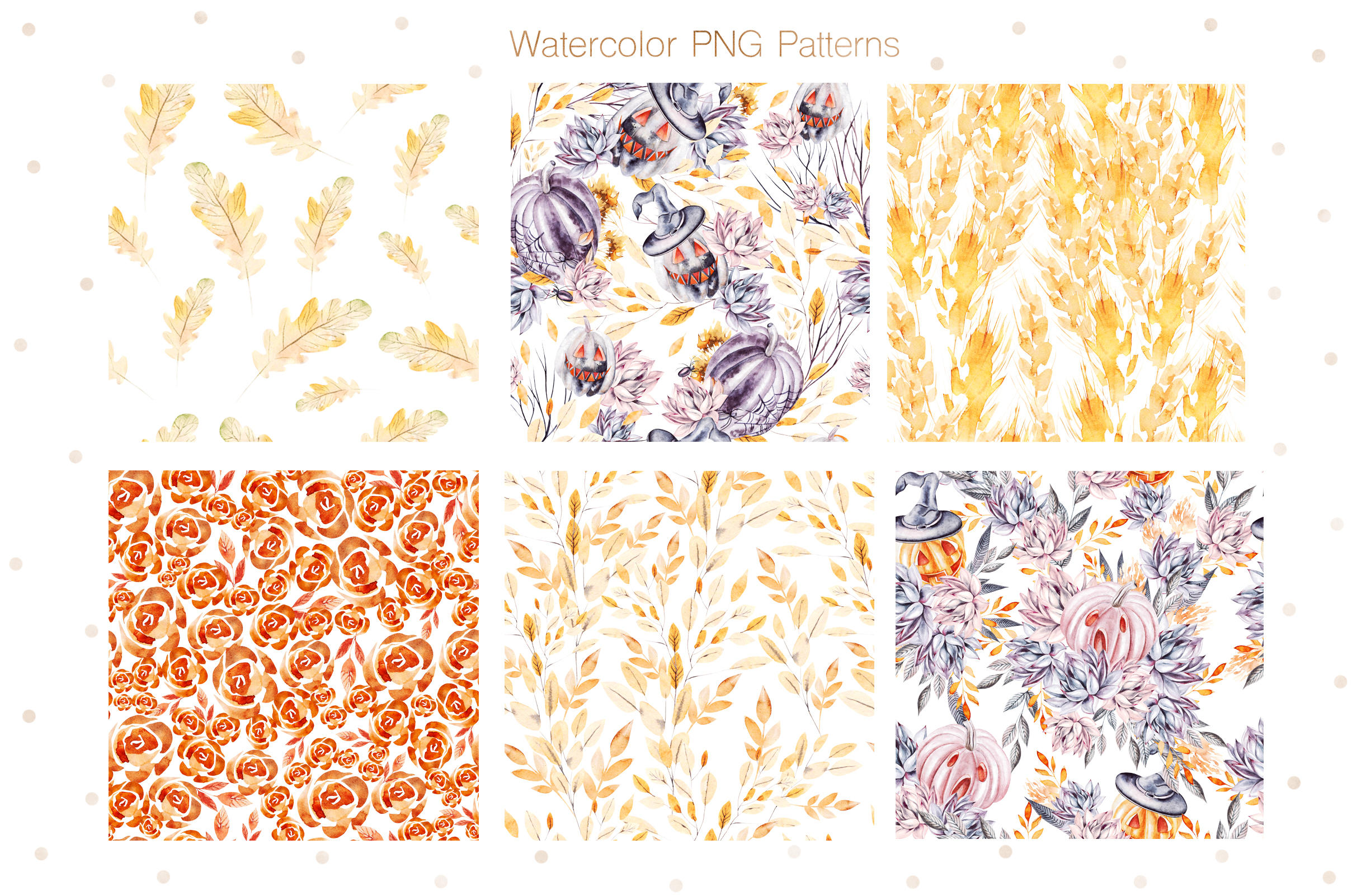 Watercolor Halloween collection example image 5
