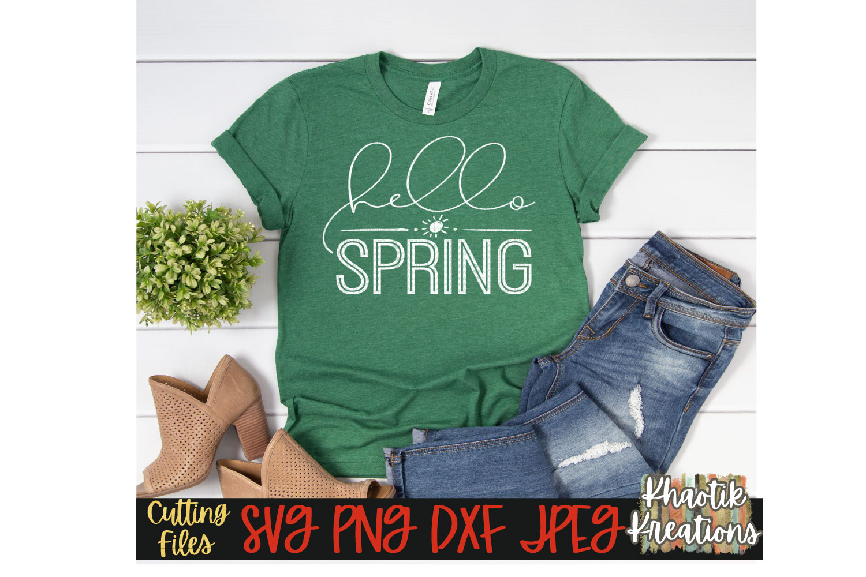 Spring Svg Hello Spring Svg Spring Time Svg Sprint Quote