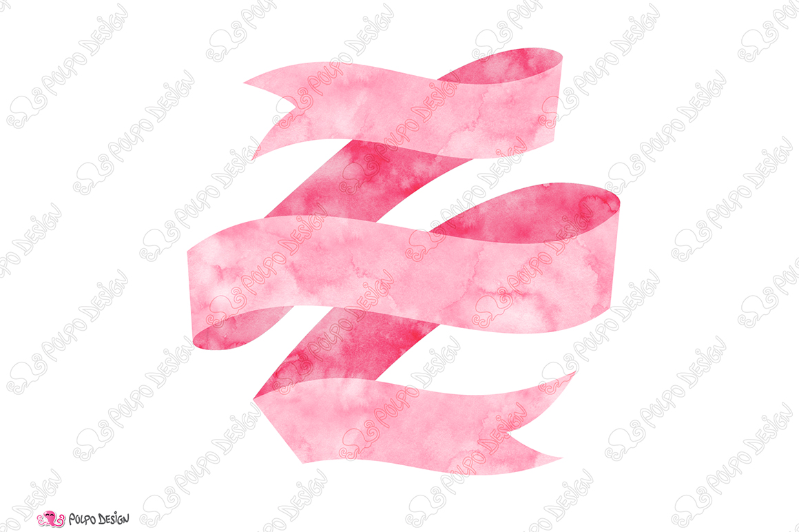 Pink Watercolor Banner clip art example image 2