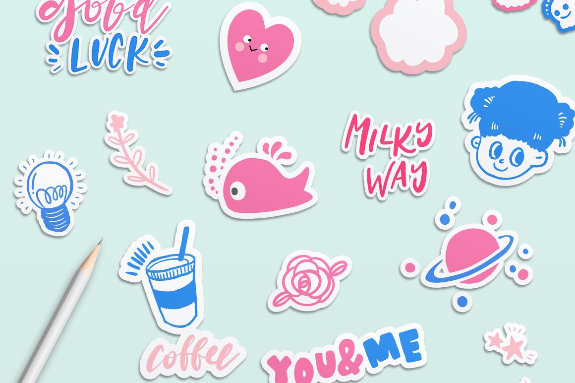 Good Luck - Retro Pop Stickers example image 2