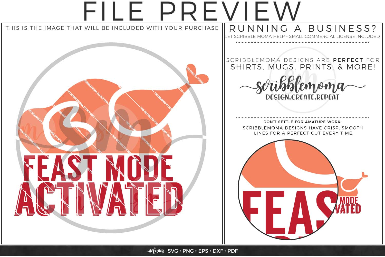 Feast Mode Activated SVG - Thanksgiving svg example image 2