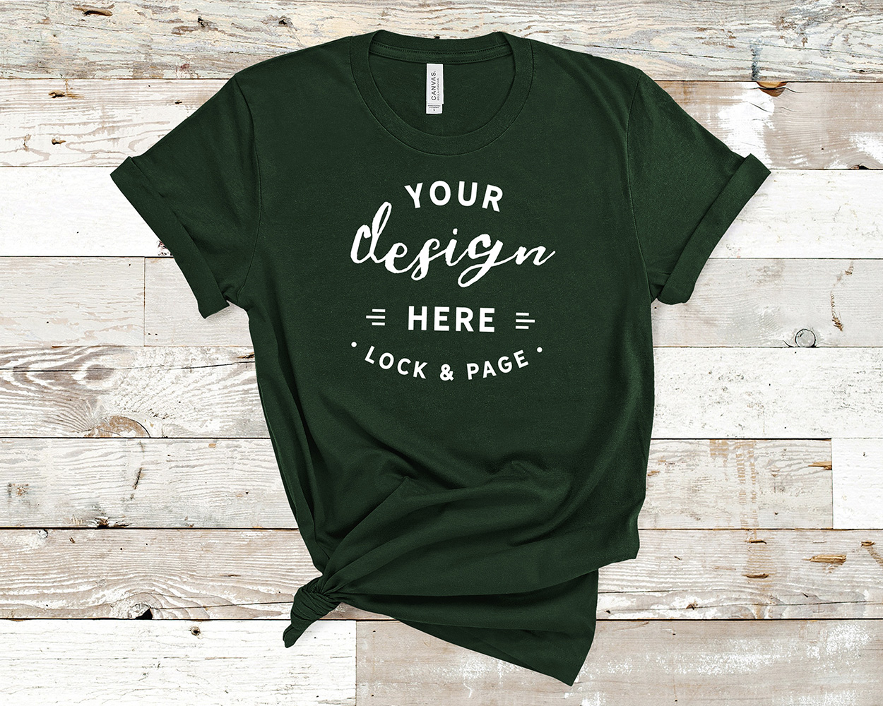Bella Canvas 3001 Mockup T-Shirt Bundle All Colors On Wood example image 14