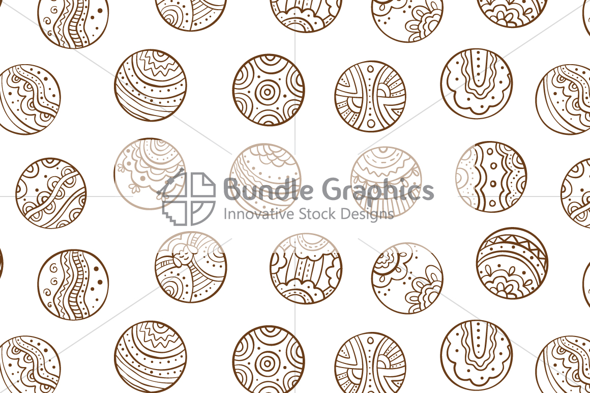 Tribal Graphic Circles  - Decorative Seamless Background example image 3