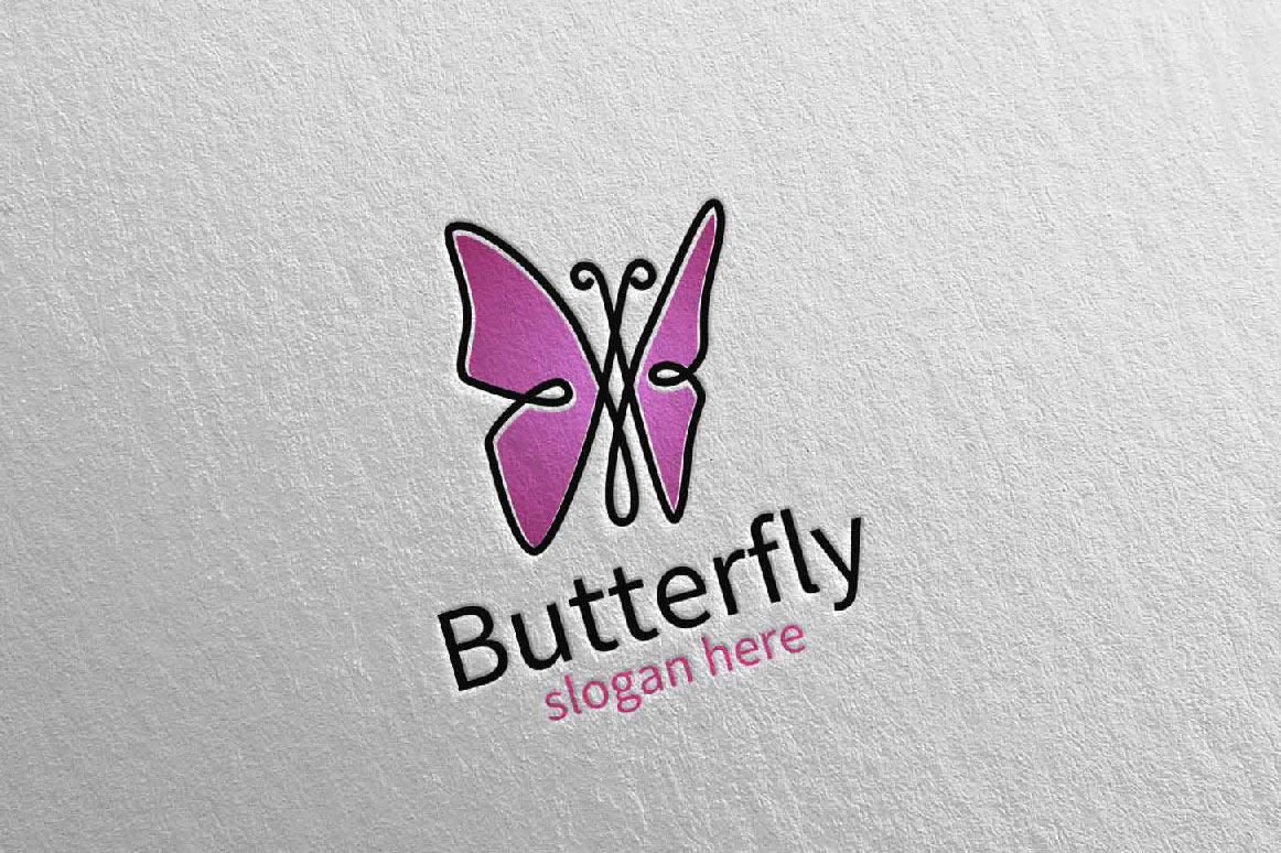 Butterfly Logo vol 16 example image 4