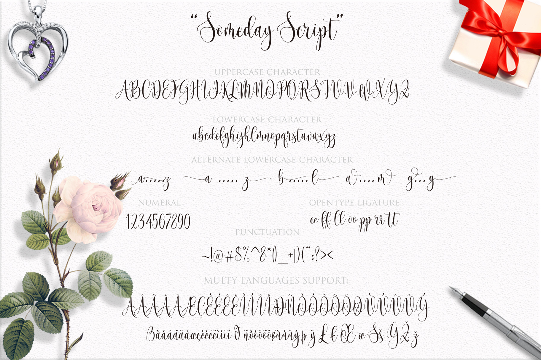 Someday Script Font example image 11