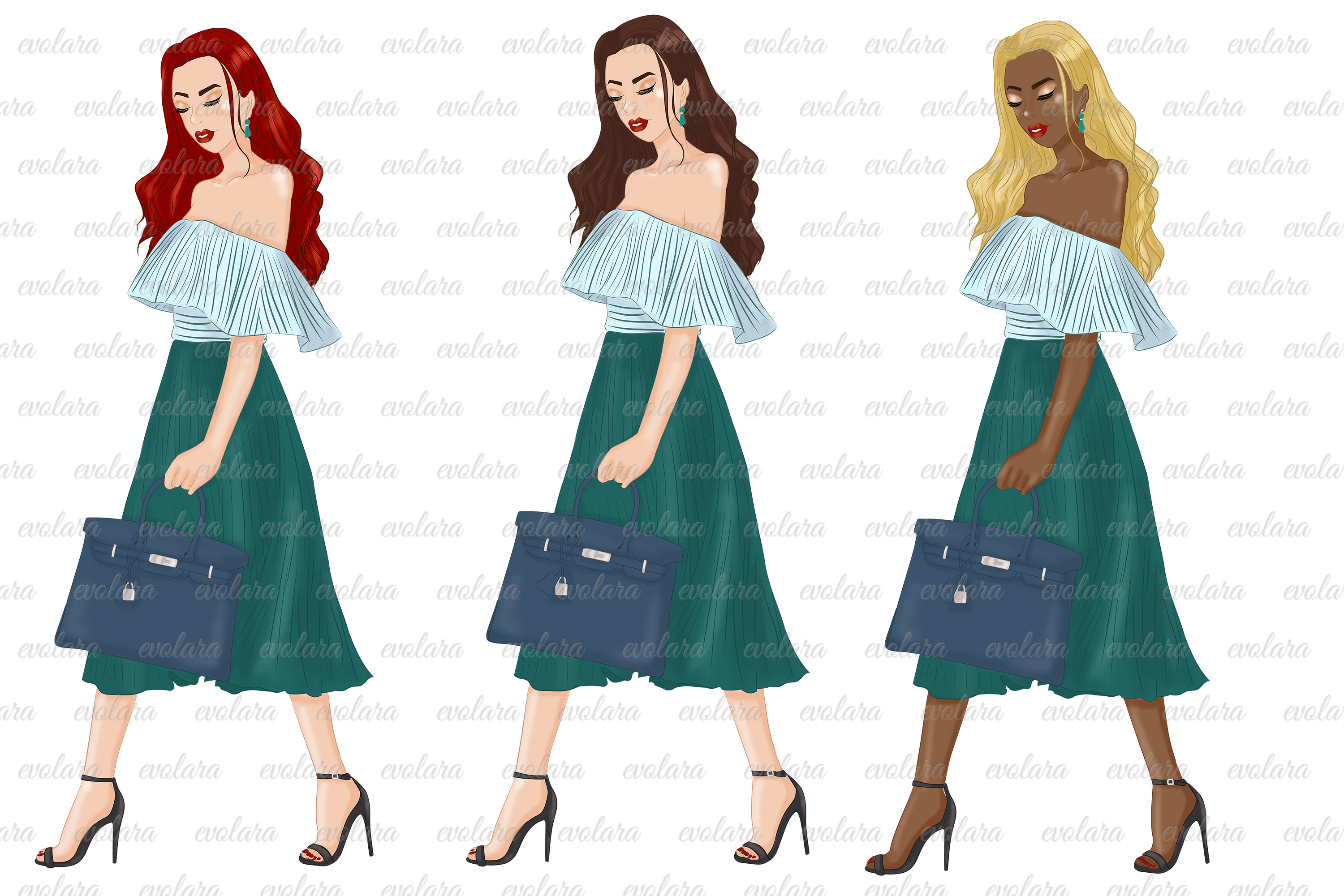 Fashion girl clipart girl boss clipart fashion illustrations example image 2