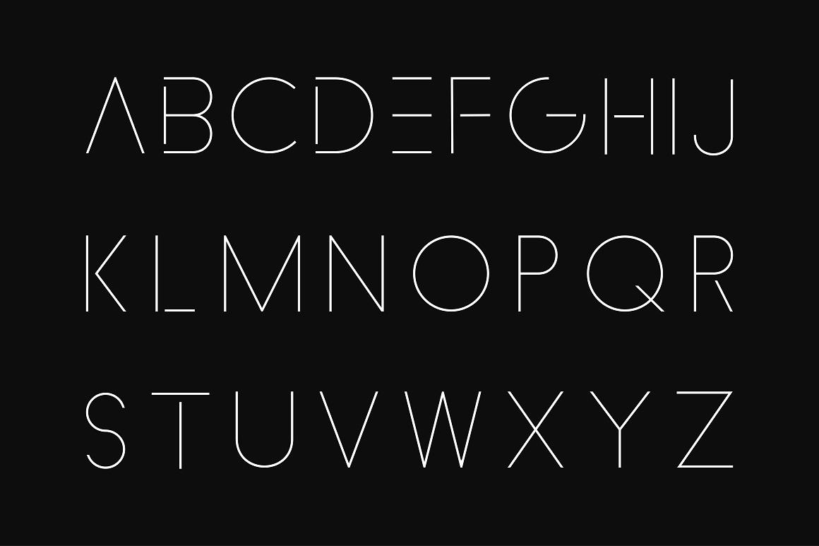 Minimalistic font. Thin design. example image 6