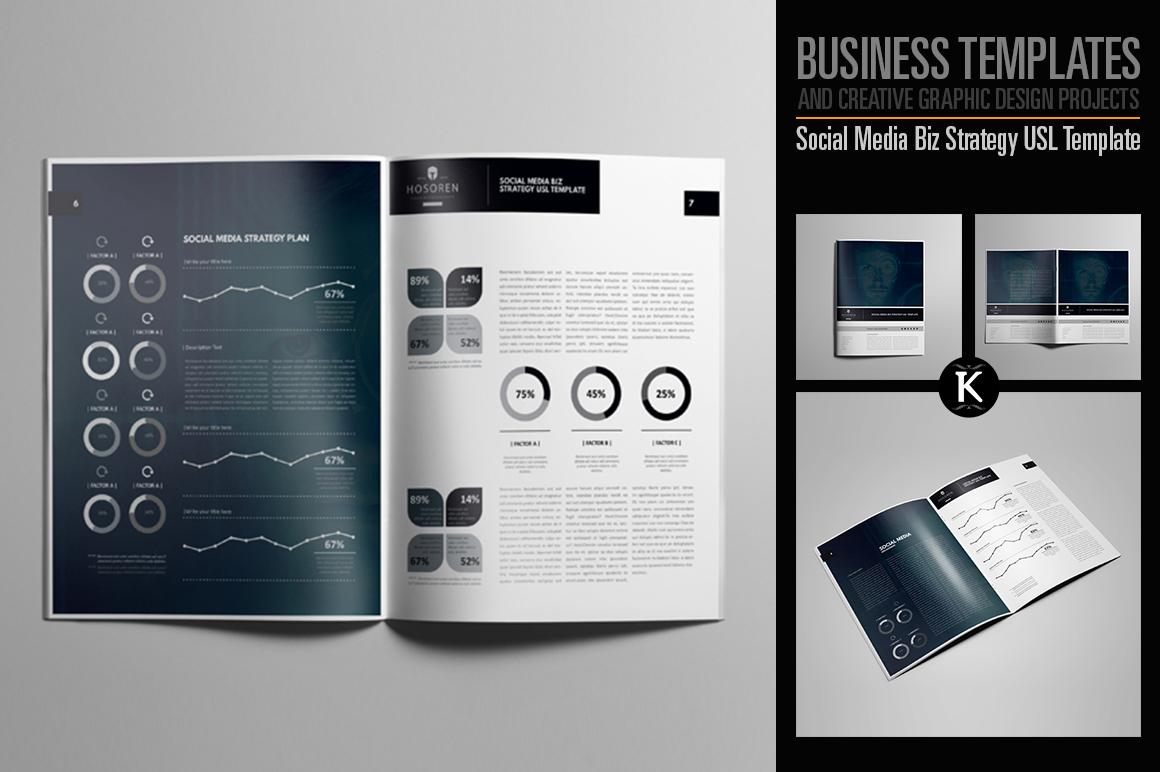 Social Media Biz Strategy USL Template example image 1