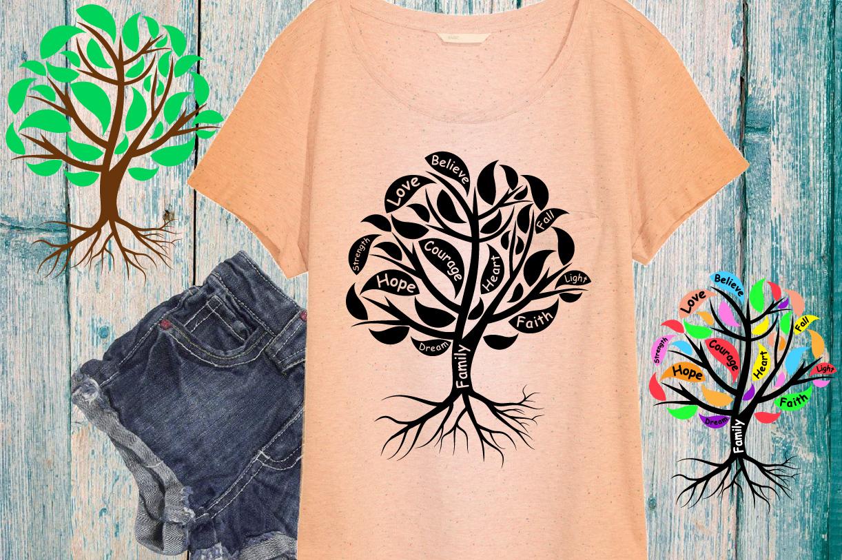 Family Tree love strength dream believe heart -751S example image 1