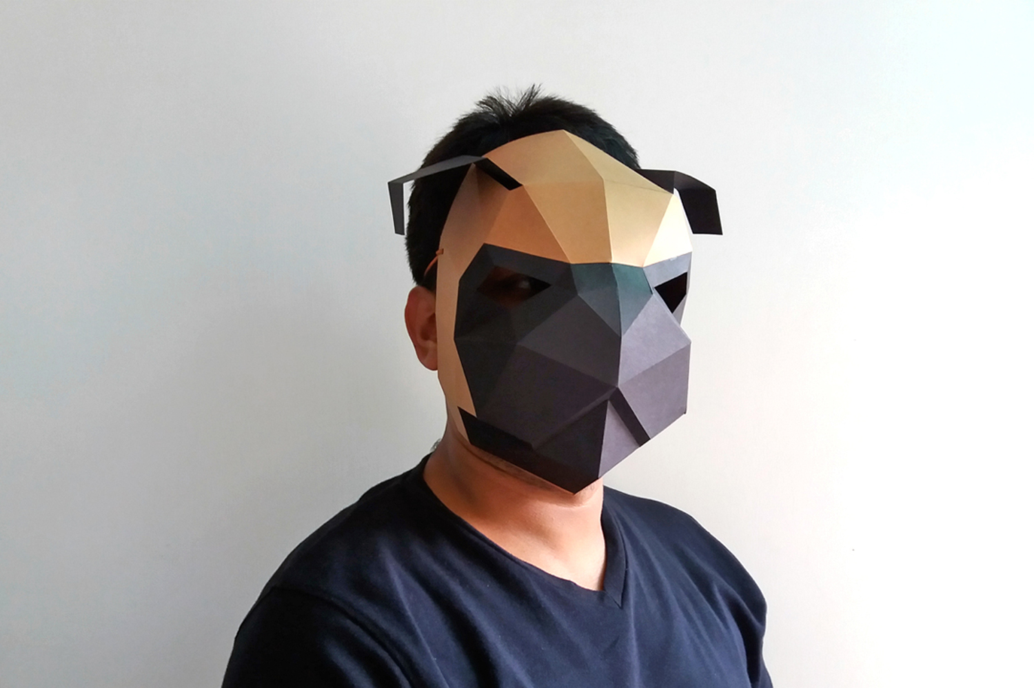 DIY Pug mask - 3d papercrafts example image 3