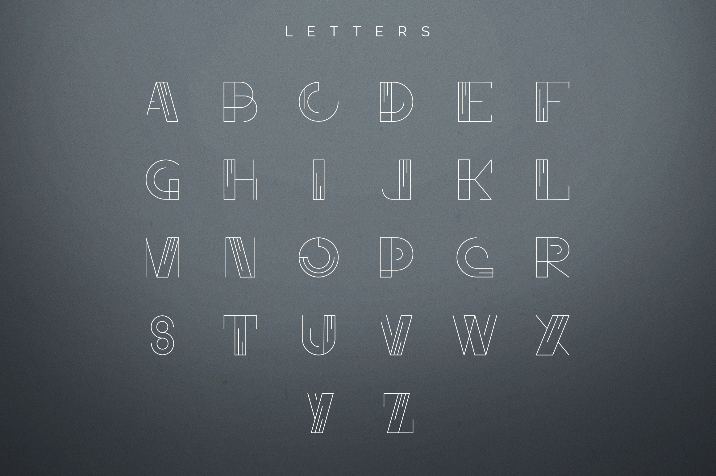 Geometric Letters and Logo Designs example image 28
