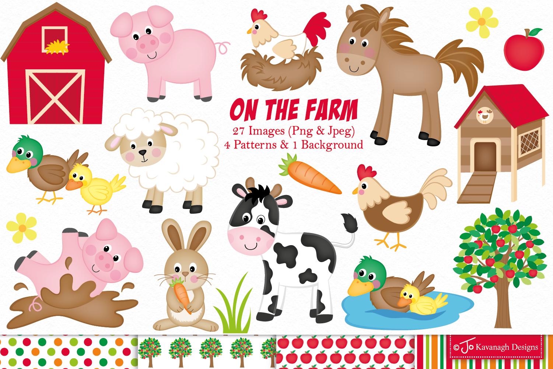 farm animals clipart graphics illustrations animal clip c11 designs cute graphic watercolor illustration jo barn designer crafts designbundles kavanagh thehungryjpeg