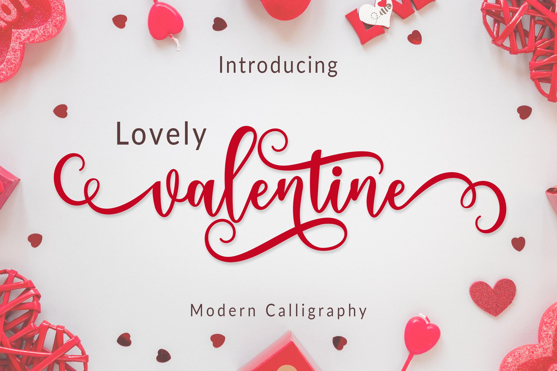 Lovely Valentine Script example image 1