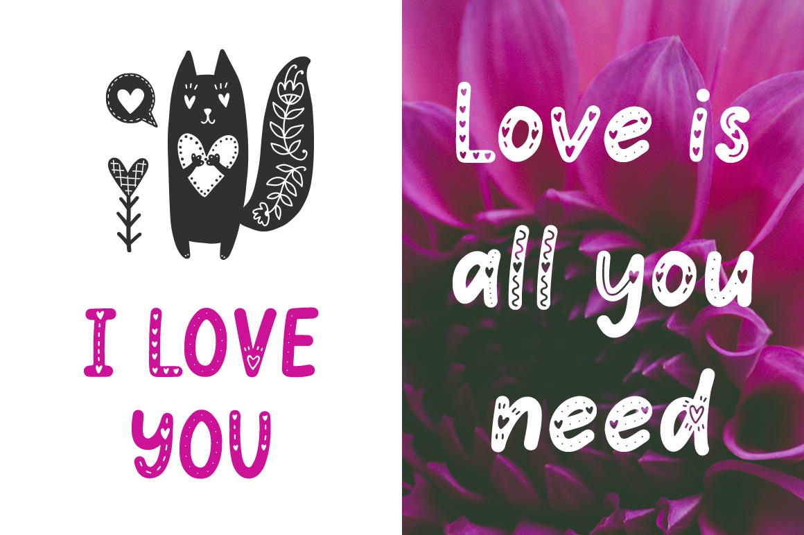 Hello Love - Valentine's Day Font example image 2