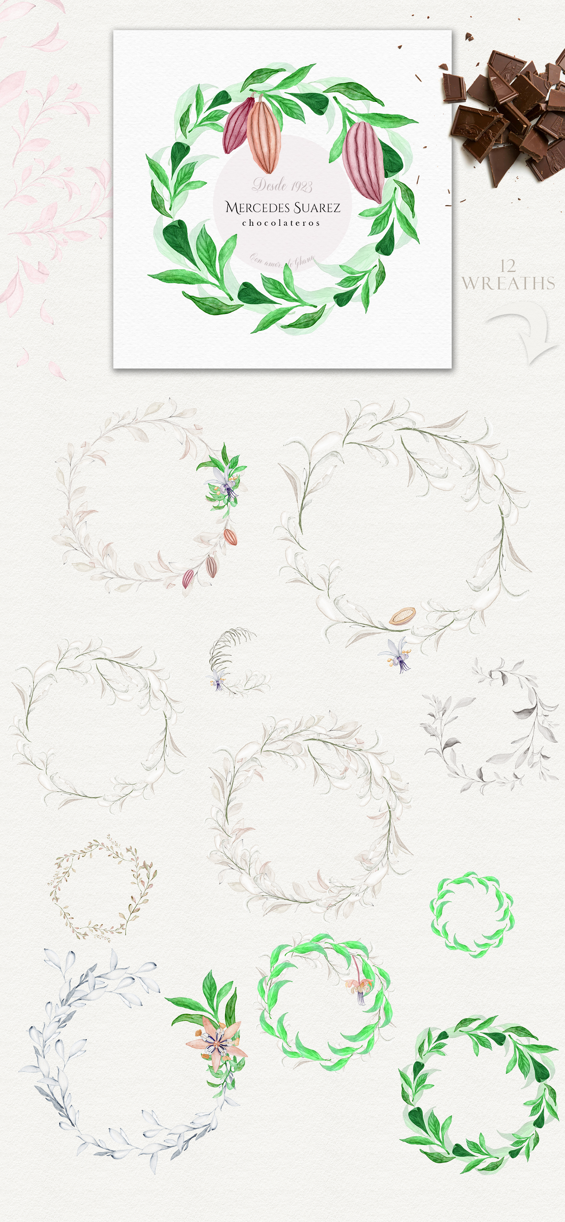 Wonderful Cocoa - Watercolor Clipart Set example image 11
