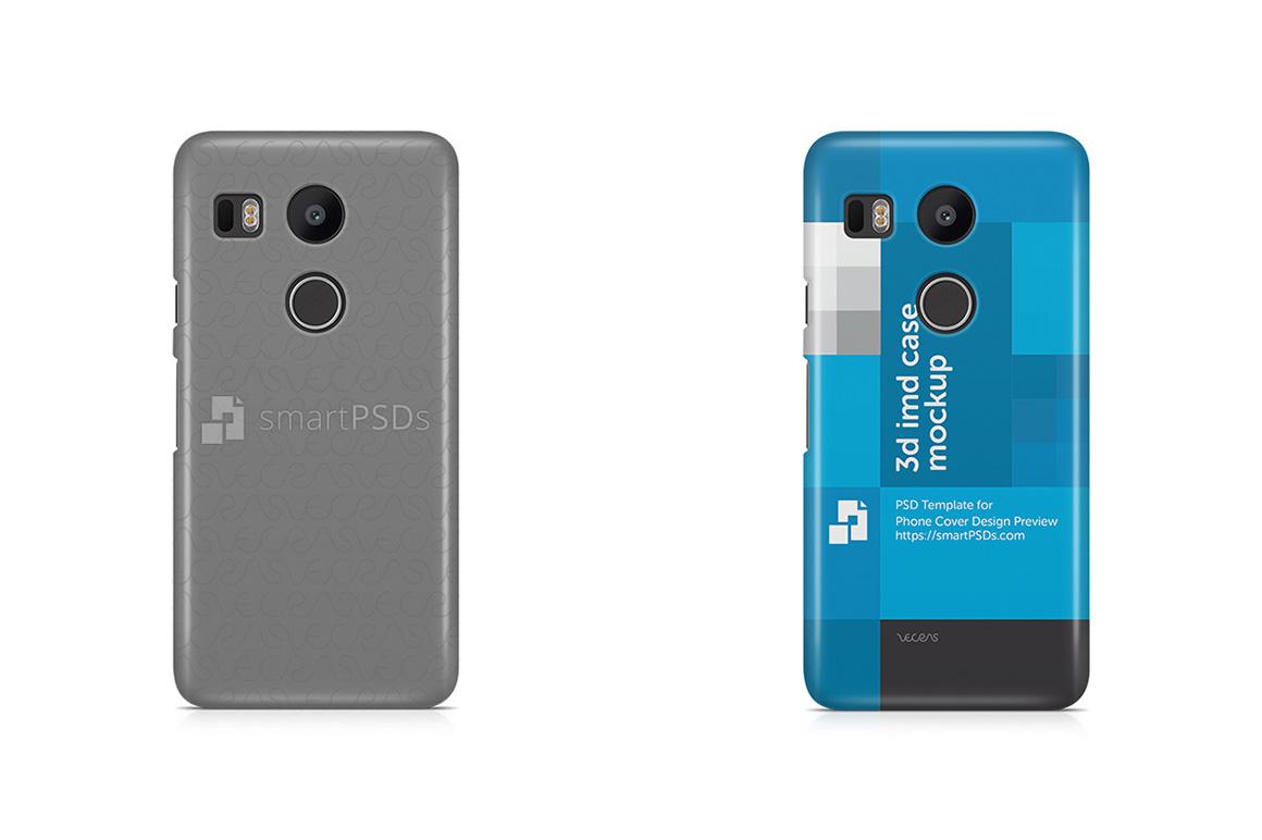Google Nexus 5X 3d IMD Mobile Case Design Mockup 2015 example image 1