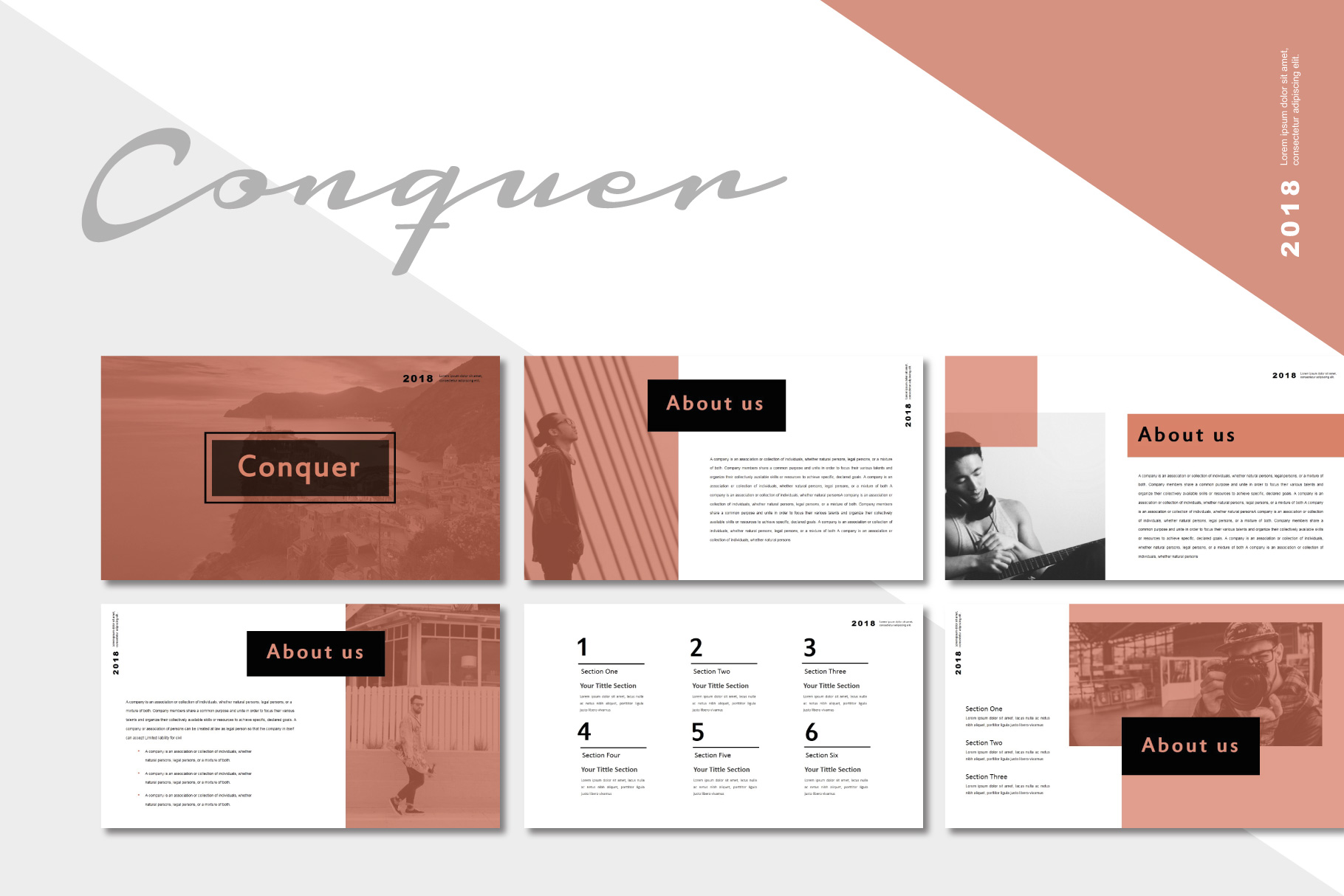 Conquer PowerPoint Templates example image 2
