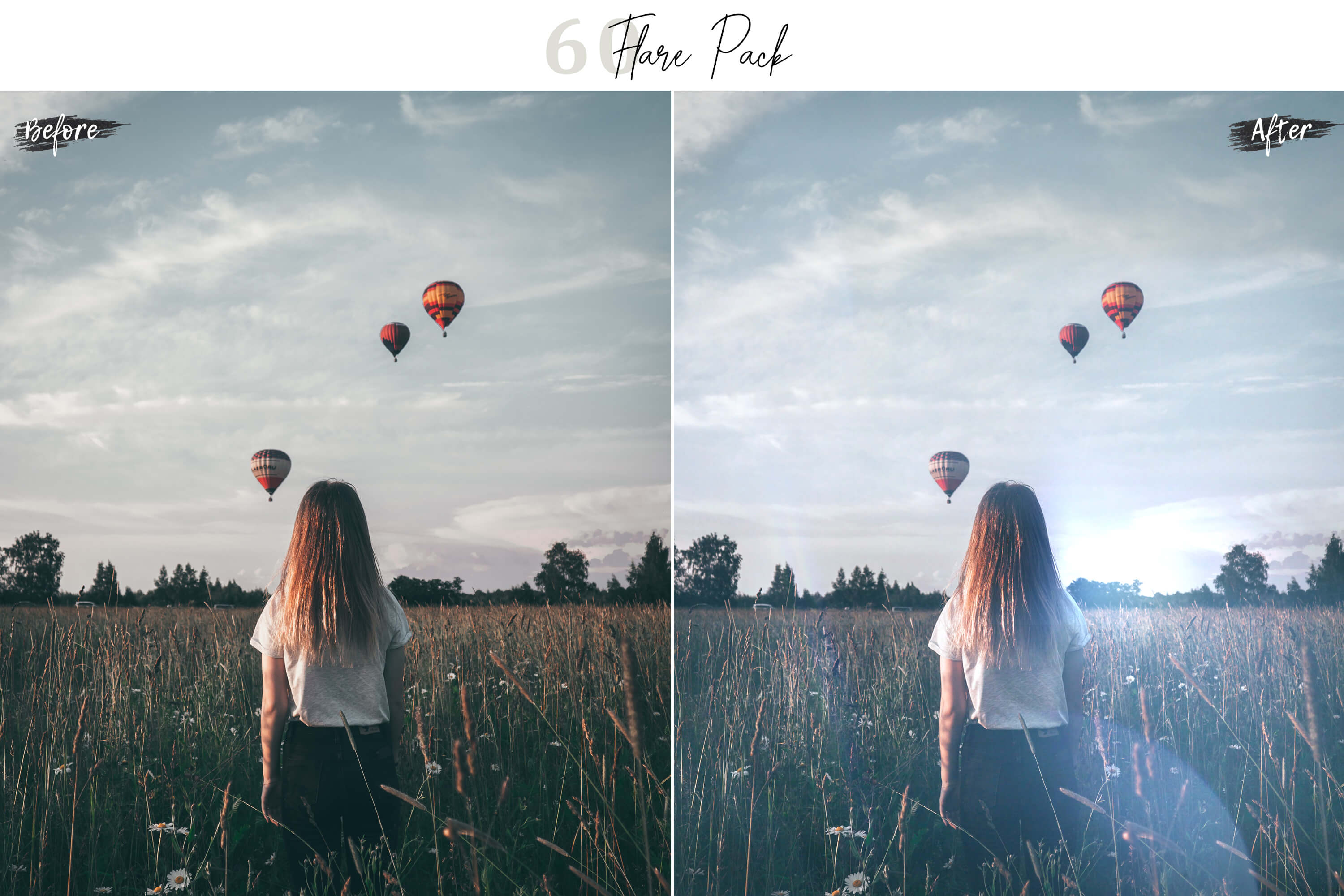 60 Flare Pack 02 lights Effect Photo Overlays example image 7