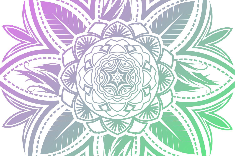 Colorful Mandala Abstract Geometric example image 3