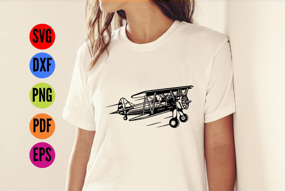 Vintage Aeroplane / Airplane  SVG Cutting File  example image 2