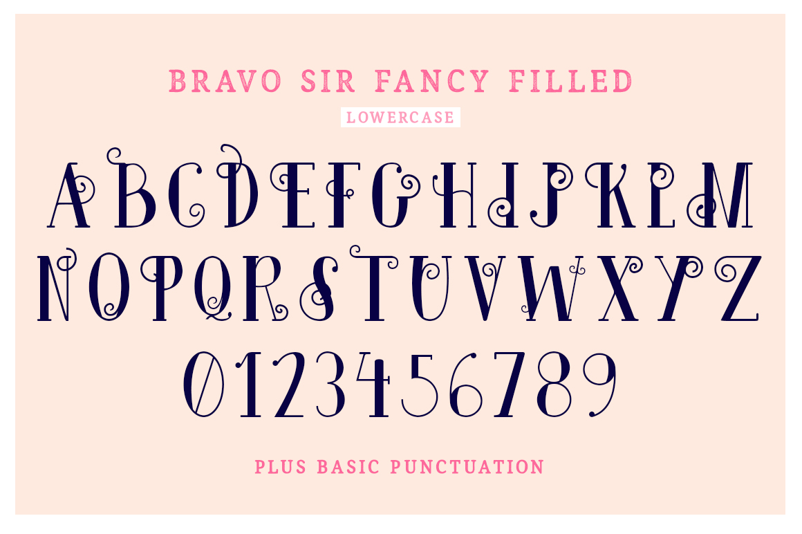 Bravo Sir Font Family example image 9