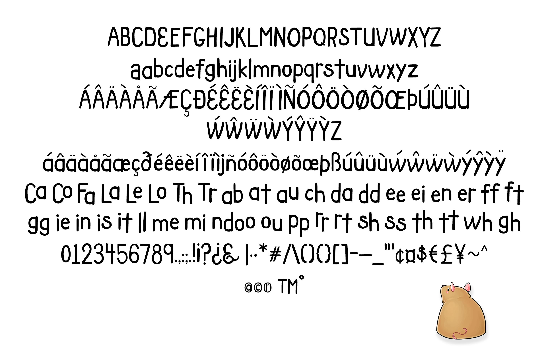 Fat Rat Font - a happy, chunky brush sans serif craft font example image 4