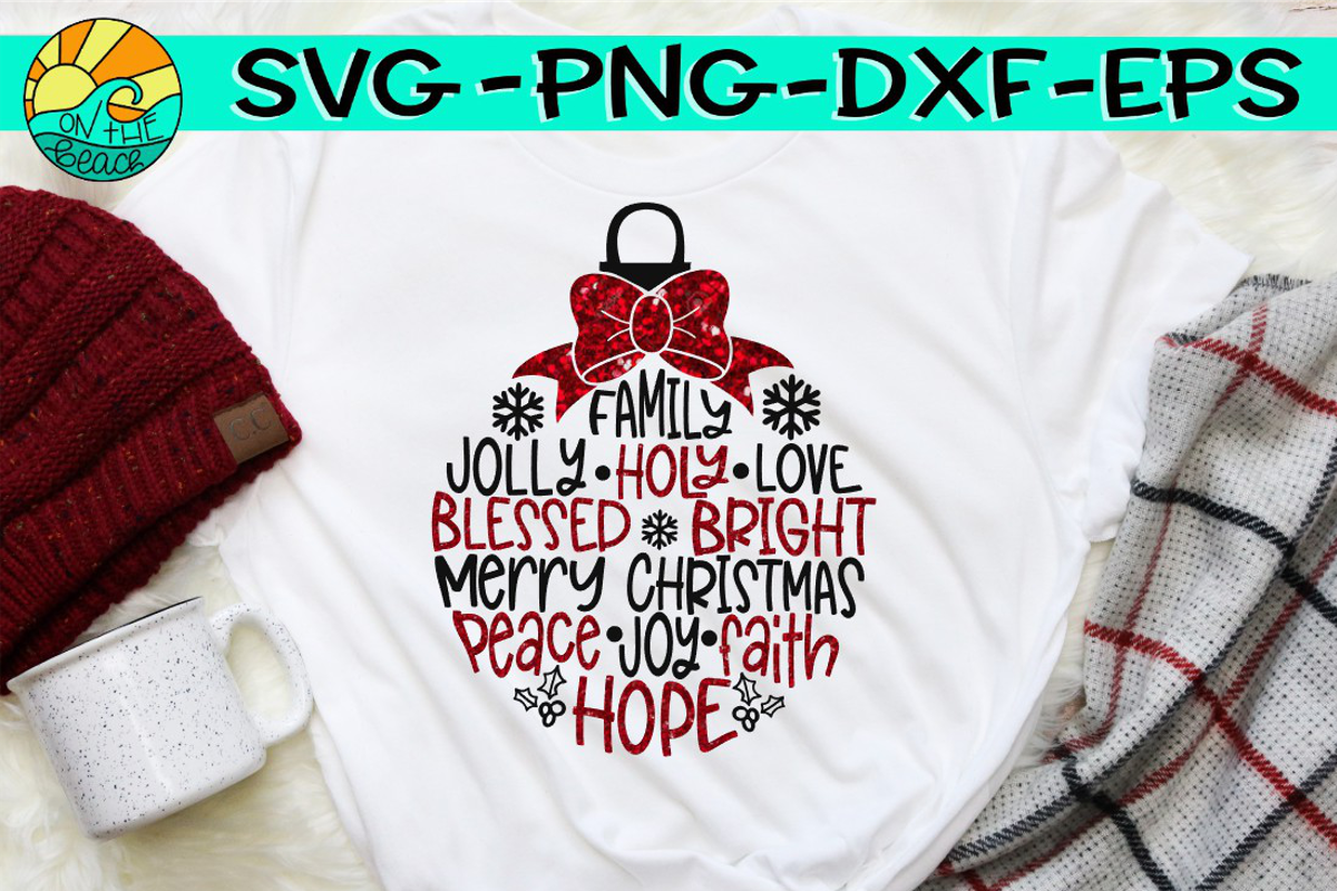 Christmas Ornament Design - SVG PNG EPS DXF example image 1