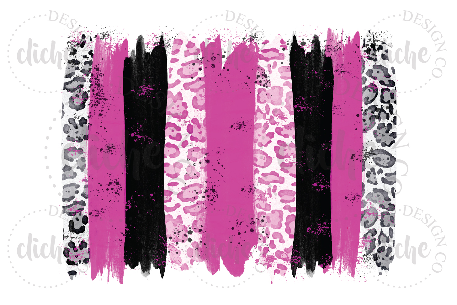 Pink Black Paint Stroke Sublimation Design Background example image 1