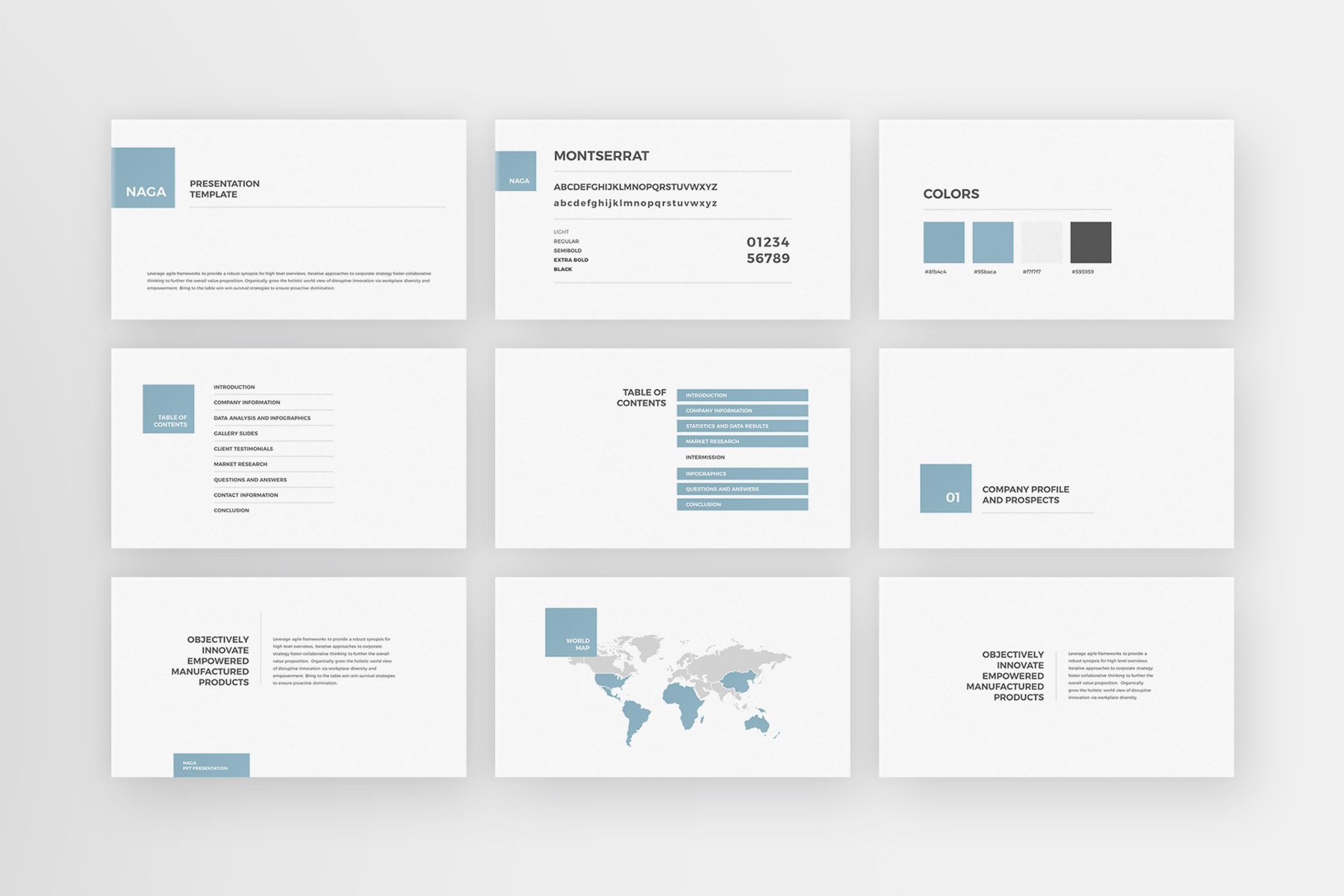 Naga - PowerPoint Template example image 2