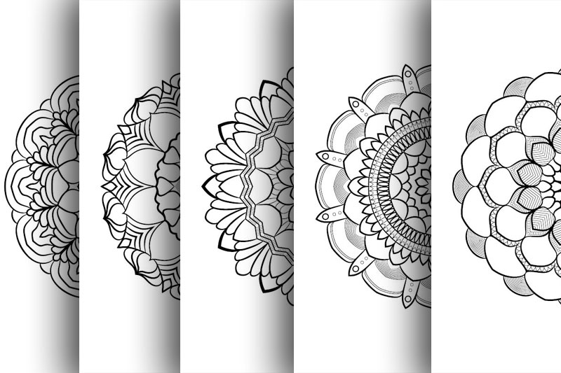 Coloring with 50 floral mandalas. Part two. example image 8