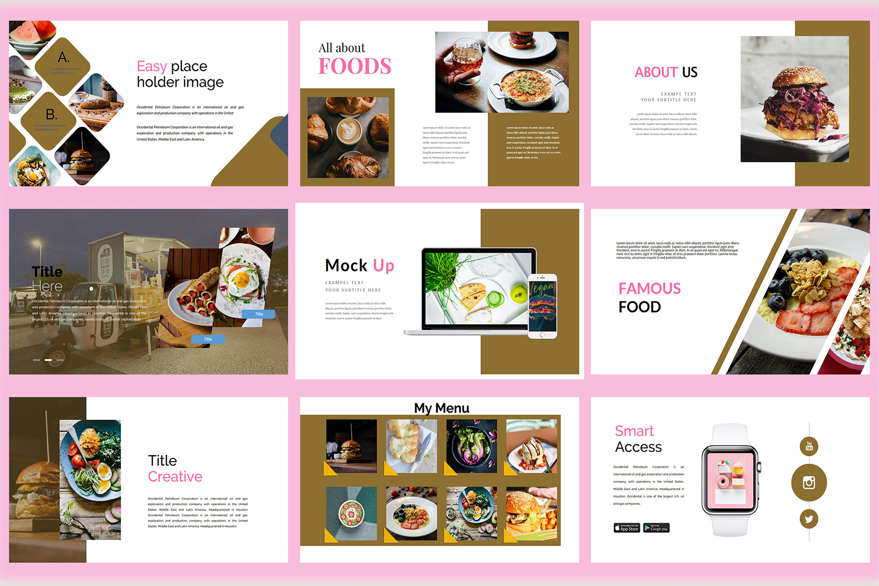 Delicious Food - Powerpoint Template example image 8