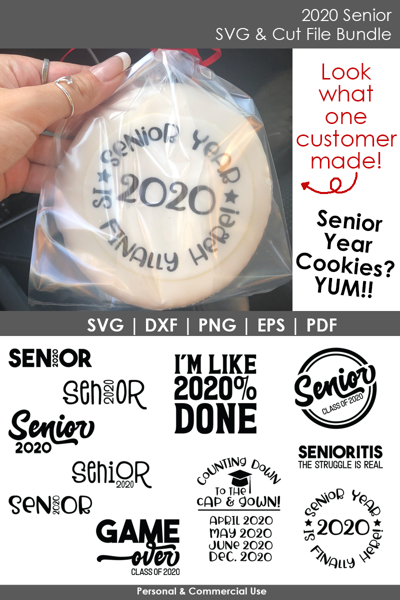 2020 Senior - School SVG and Cut Files for Crafters example image 4