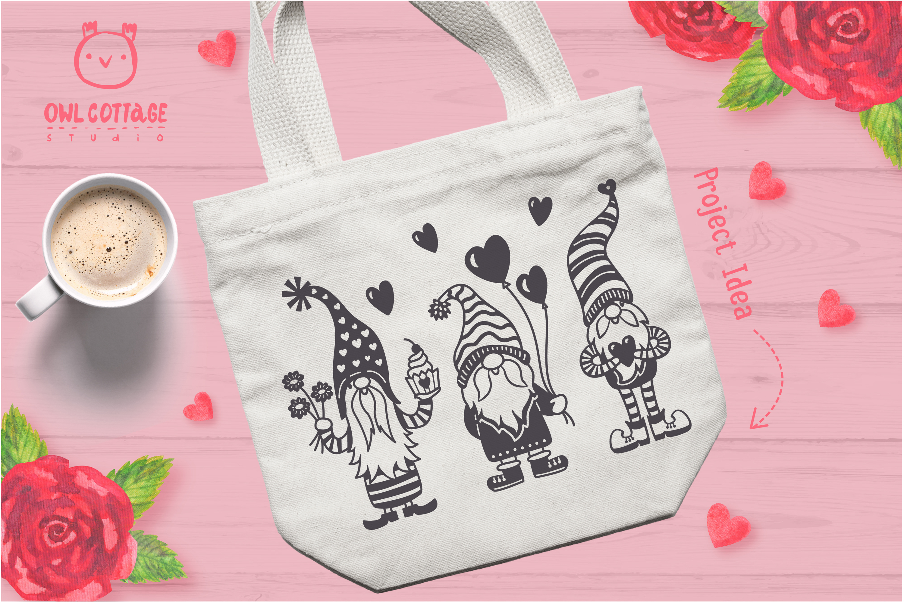 Valentine Gnomes, Gnome Holding Heart Svg, Valentine's Day S example image 10