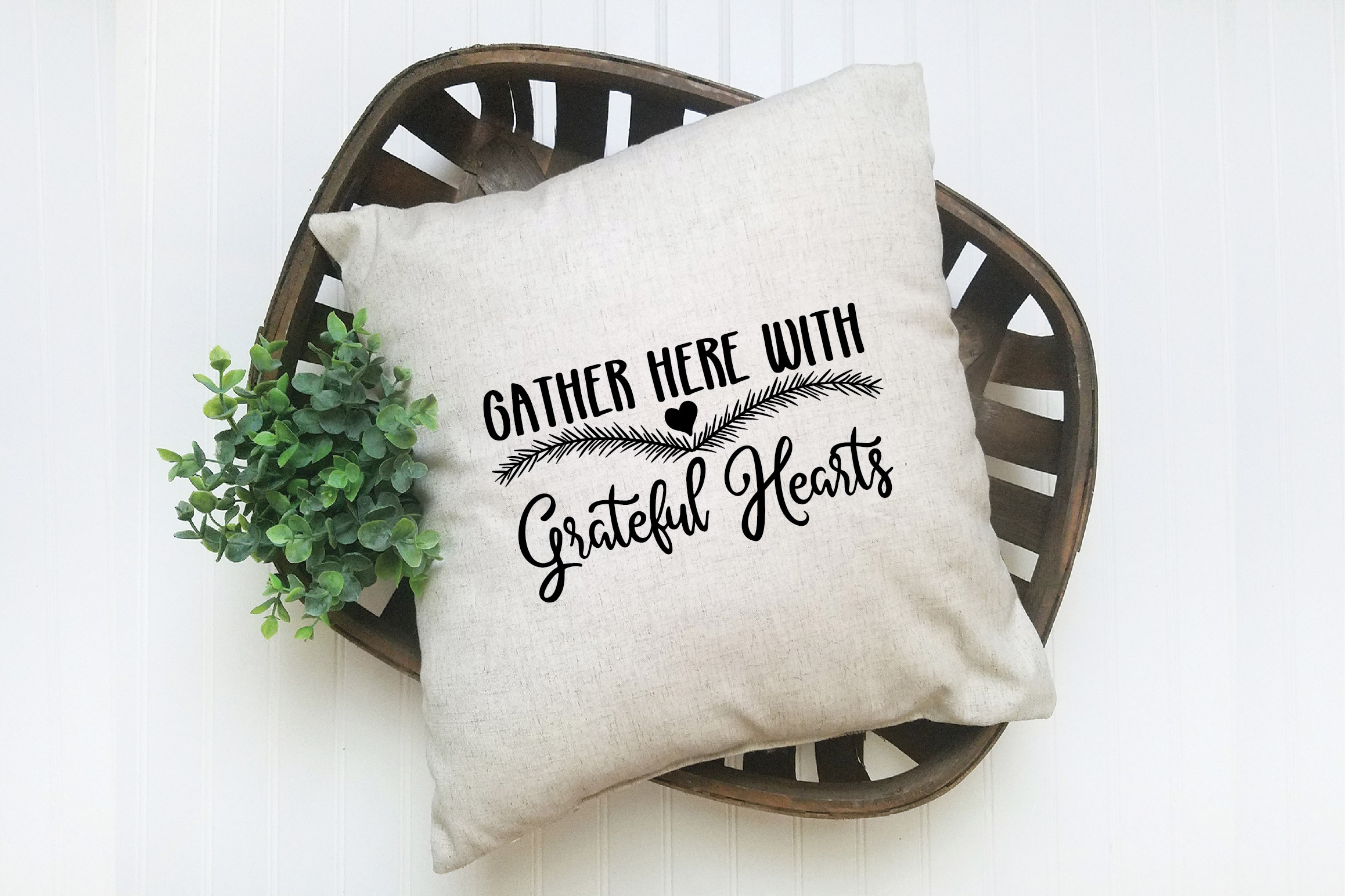 Christmas SVG Cut File -Gather Here with Grateful Hearts SVG example image 7