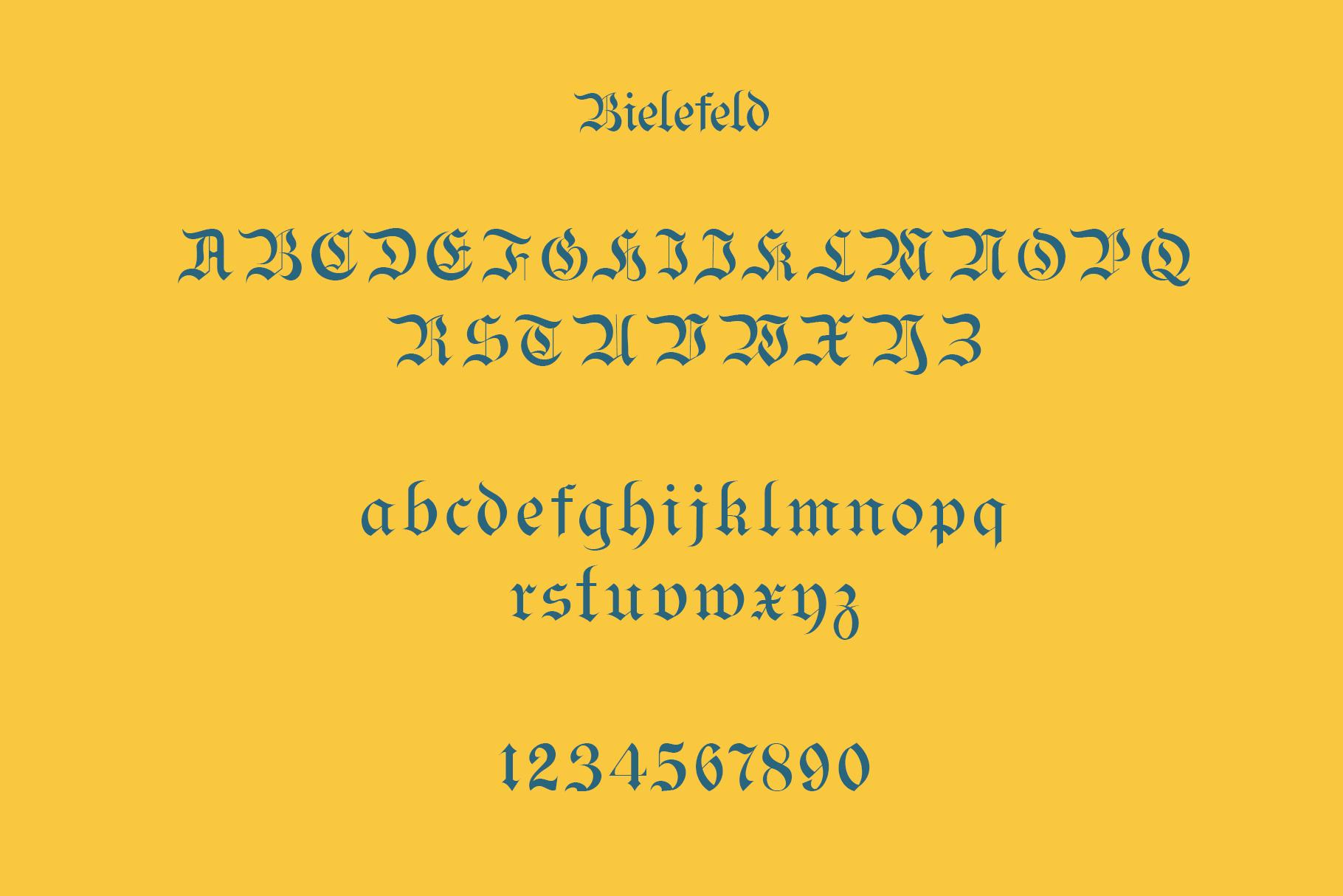 Bielefeld Typeface font example image 11