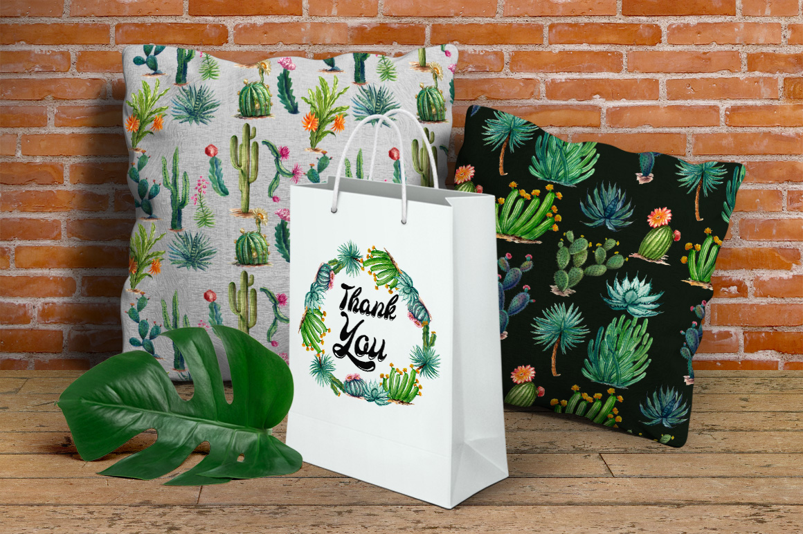 Watercolor Cactuses example image 10