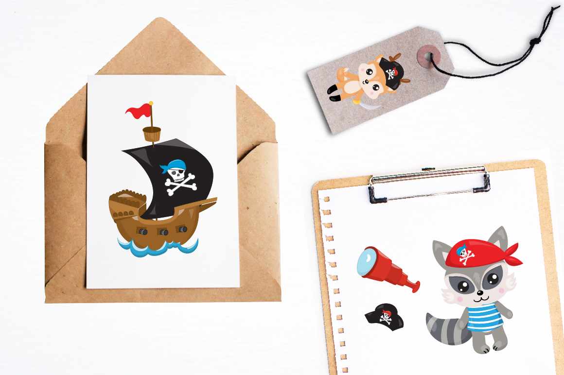 Pirates animals graphics and illustrations example image 3