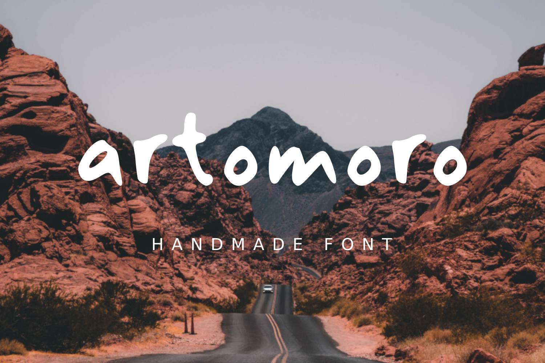 Artomoro Handmade font example image 1
